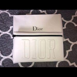 New with Box Dior White Trousse Pouch